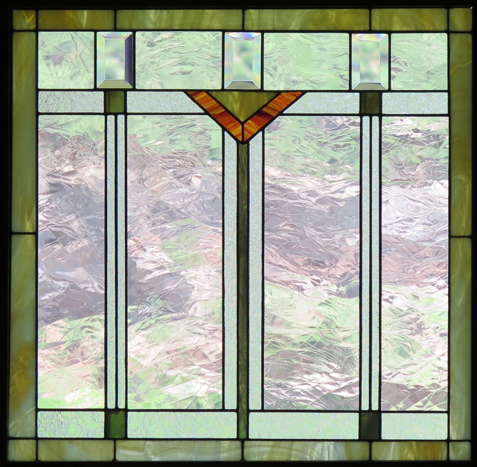 Craftsman Style Stained Glass Window Stained Glass Glass Stained Glass Patterns