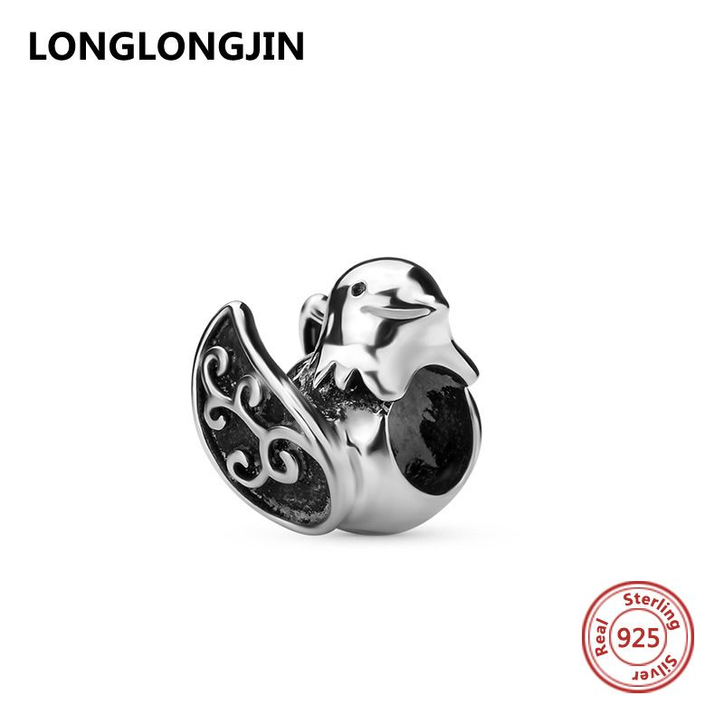 Fit Pandora charms Bracelet Authentic Real 925 Sterling Silver Jewelry Beads Lovely dove Beads For Fine DIY jewelry making Gifts