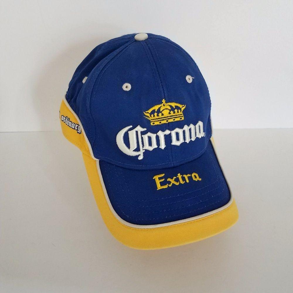 f276cb2ed93 Corona Extra Miles Away From Ordinary Baseball Cap Concept One Hat Yellow  Blue  ConceptOneCorona  BaseballCap