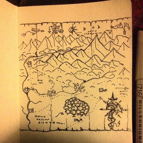 Inked Adventures   Billiam Babble   rough map practice   Maps and     Inked Adventures   Billiam Babble   rough map practice