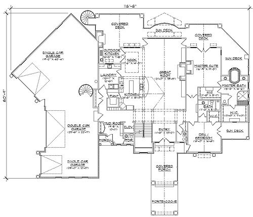 Plan for Home plans with indoor basketball court