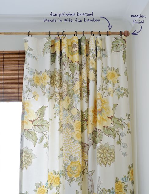 Bamboo Curtain Rod The Painted Hive Diy Interior Decor
