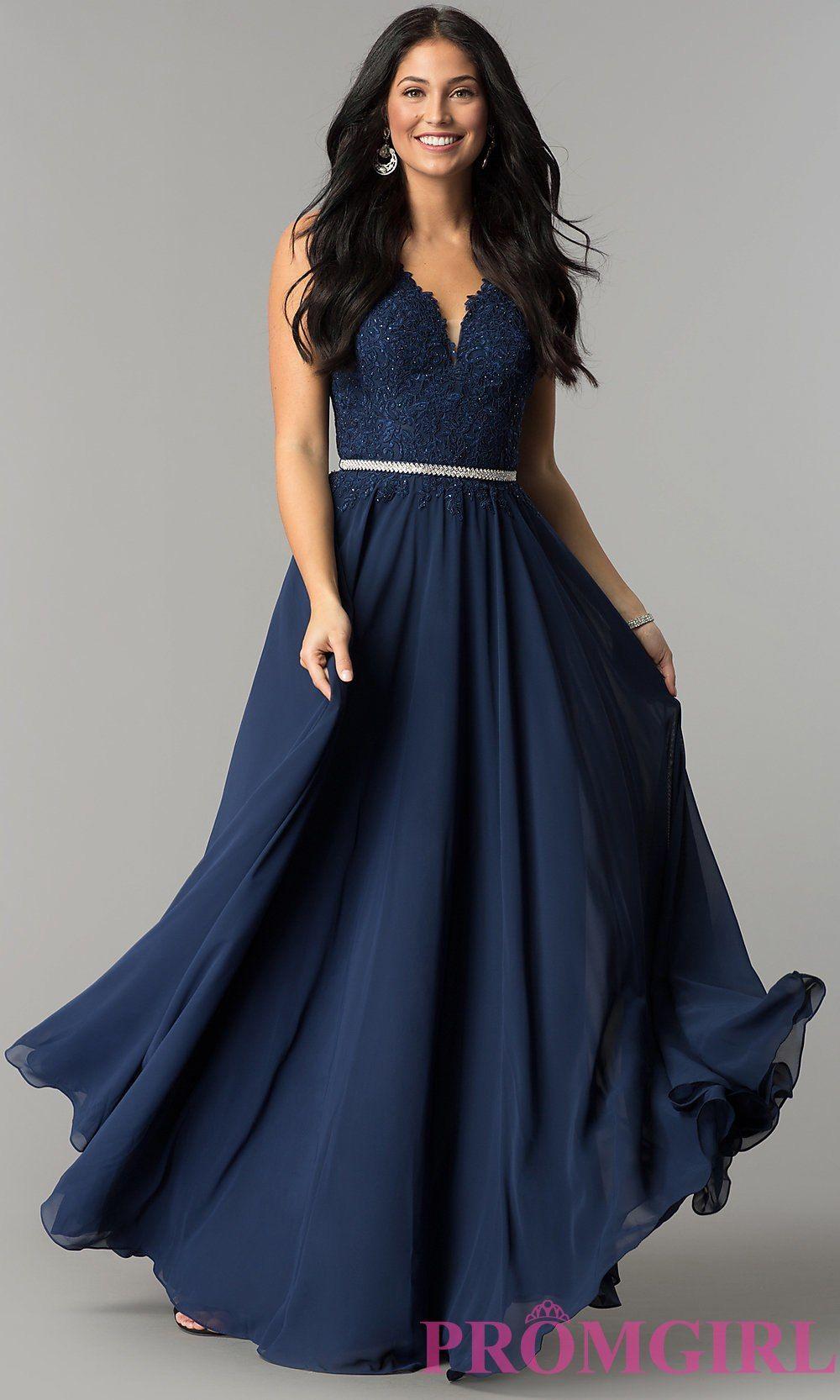 Plussize vneck chiffon long prom dress promgirl military