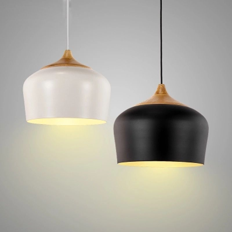 Nordic pendant lights luminaires modern wood aluminum lampshade nordic pendant lights luminaires modern wood aluminum lampshade e27 110220v for decor hanging aloadofball Gallery