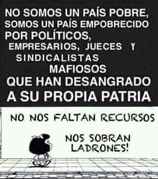 Sobran Ladrones Mafalda Frases Chistes De Mafalda Y