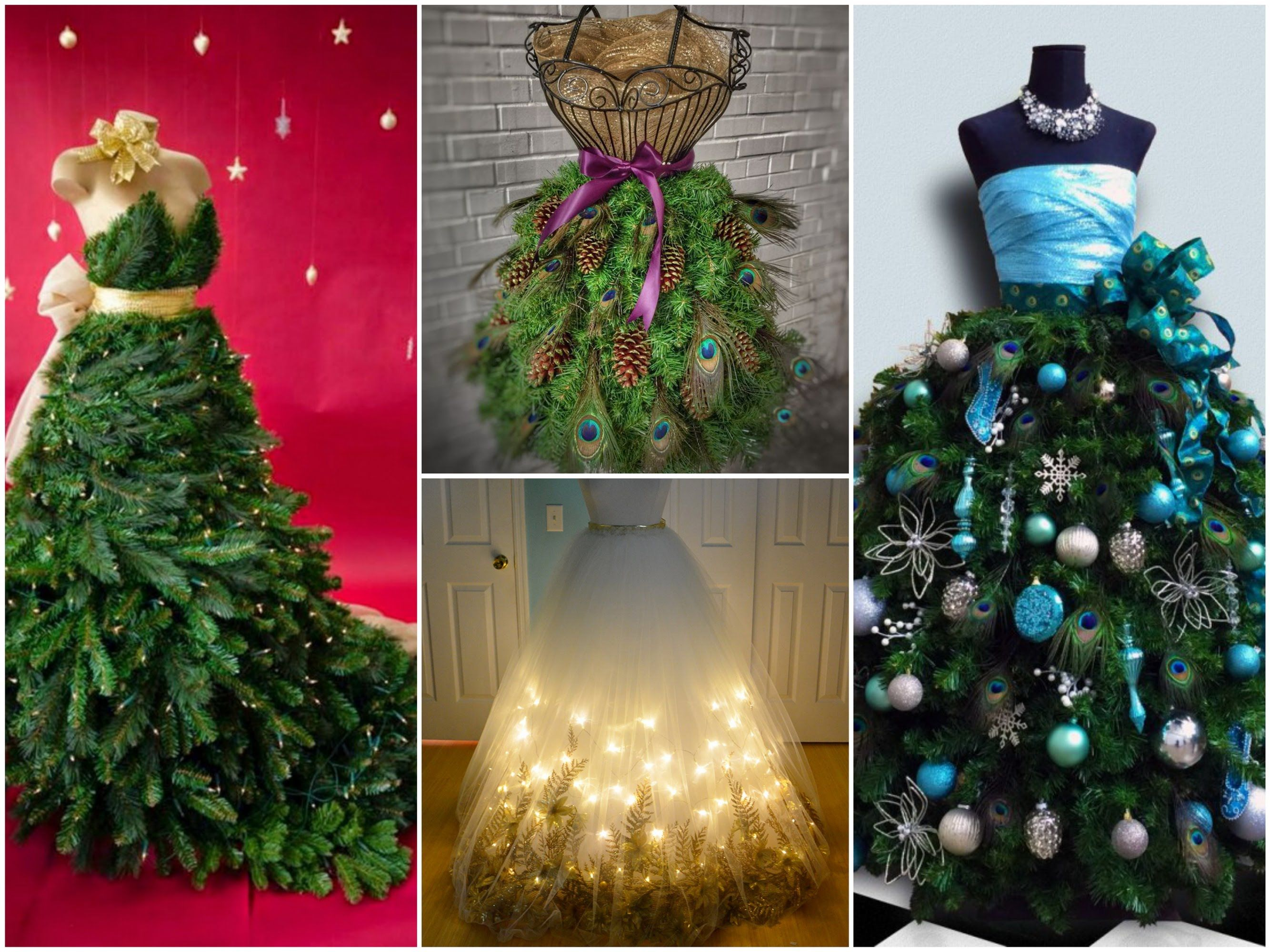 35 Best Dress Form Christmas Trees Mannequin Christmas Tree Ideas Dress Form Christmas Tree Christmas Party Decorations Diy Peacock Christmas Tree