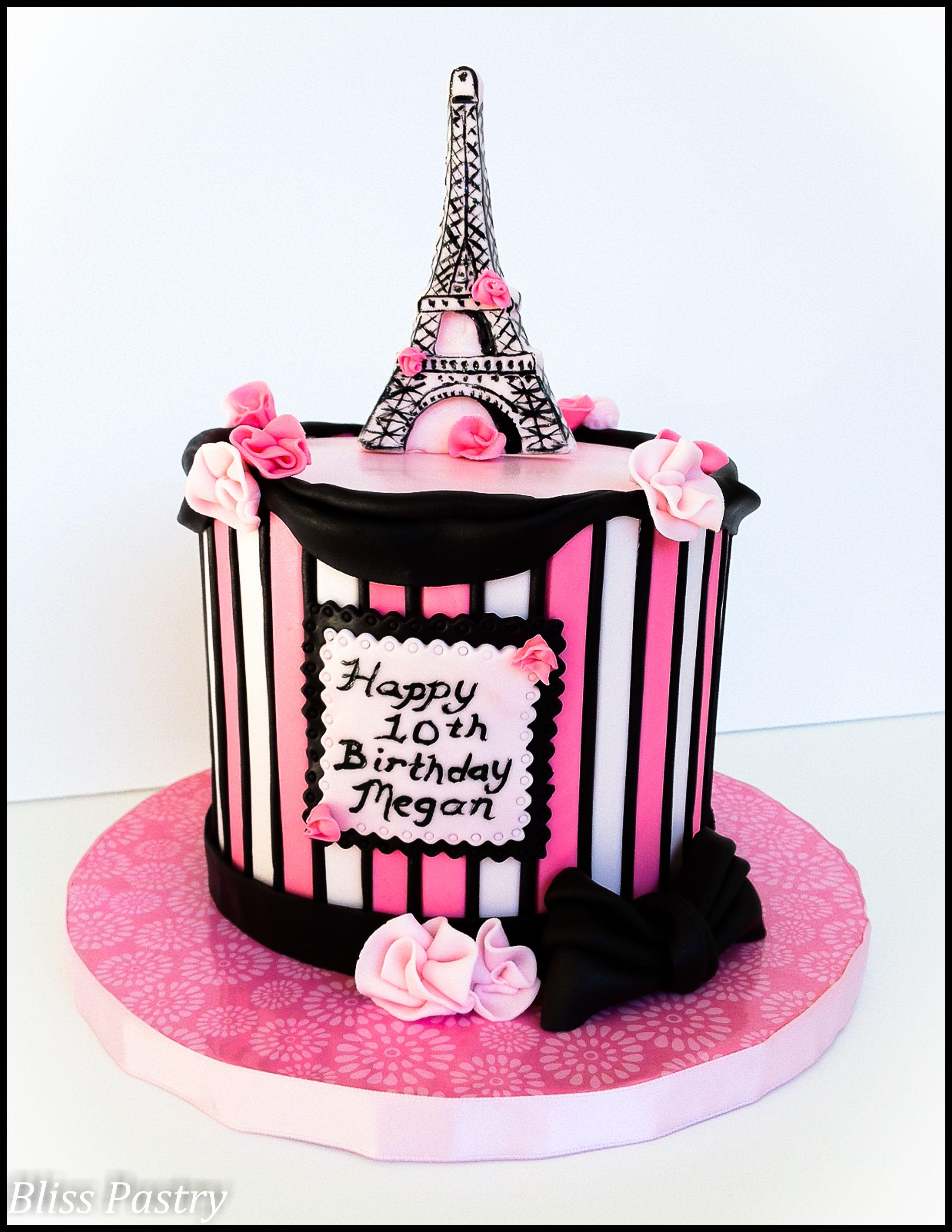 Swell Paris Birthday Paris Birthday Cakes Paris Cakes Cake Funny Birthday Cards Online Fluifree Goldxyz