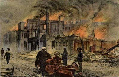 The Great Fire in Thessaloniki, 1917