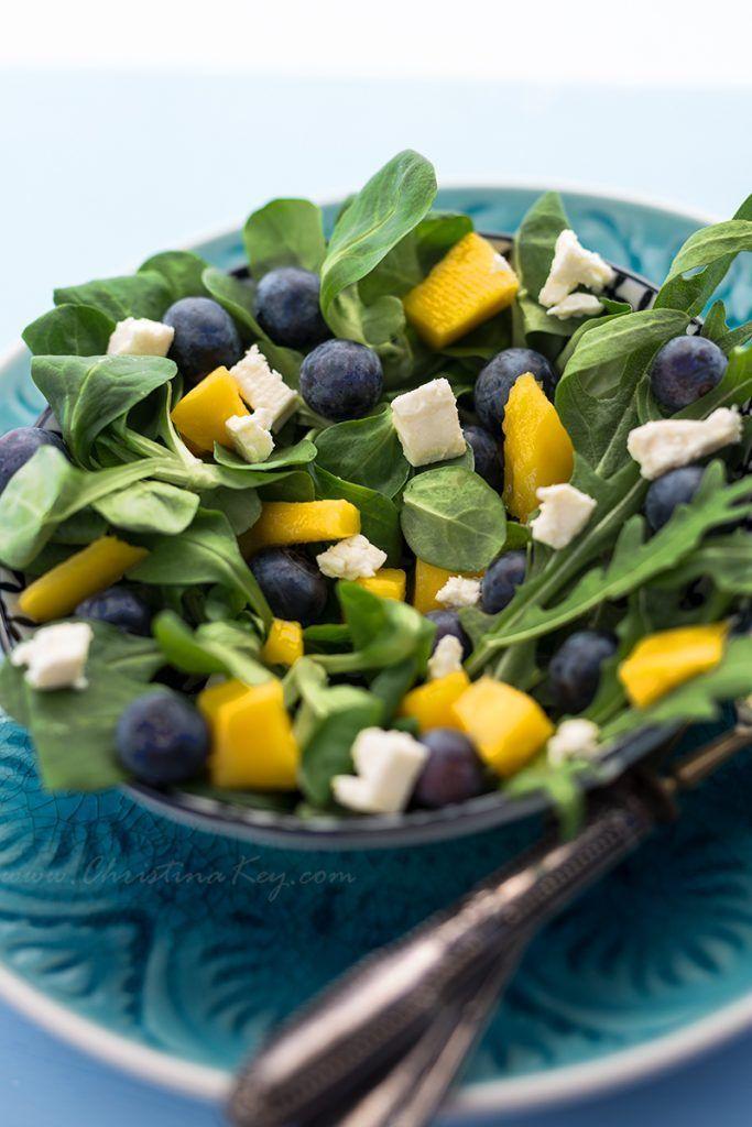 Sommer Salat mit Mango - Kreative Fotografie Tipps und Foto Hacks