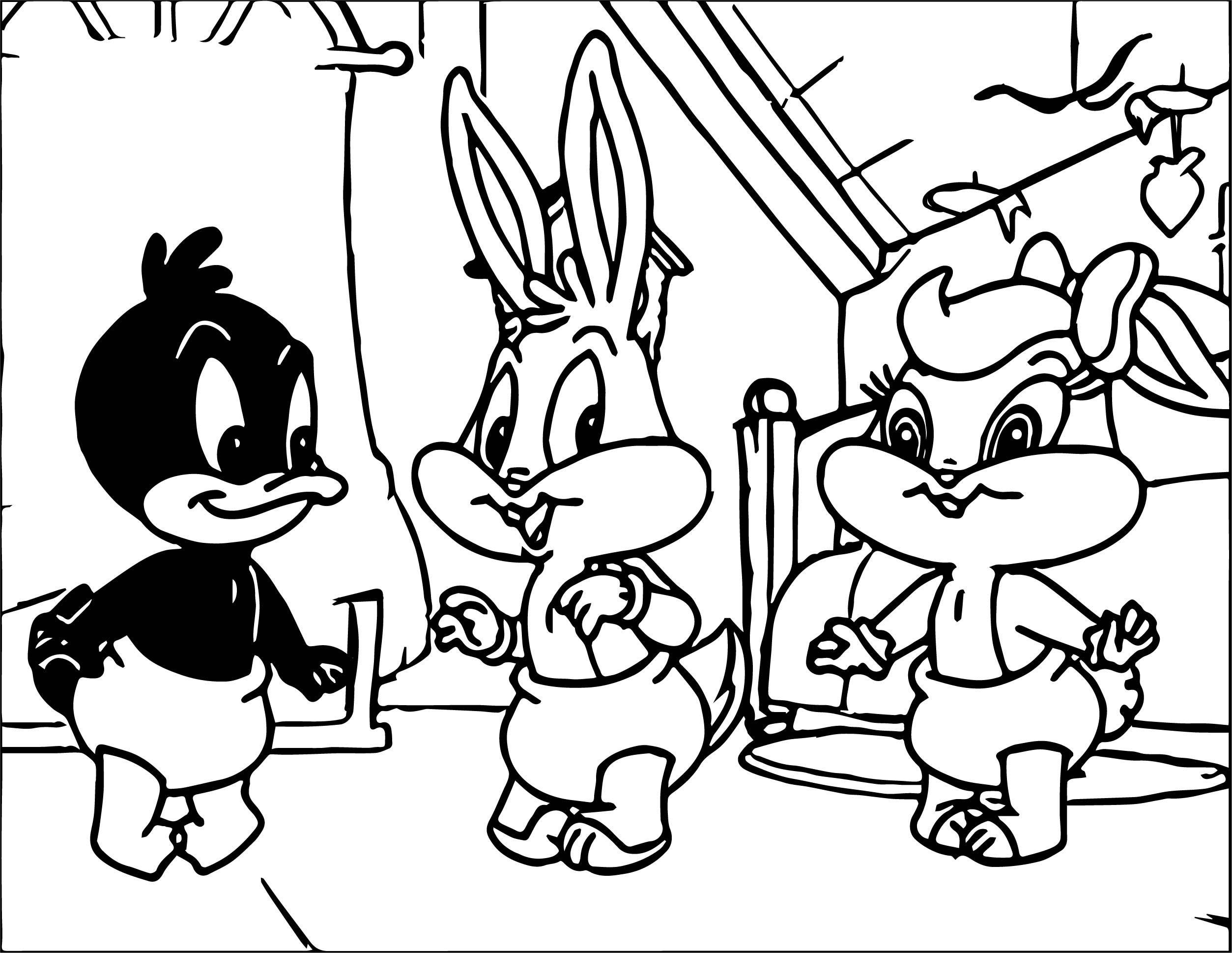 Warner Bros Baby Looney Tunes Bunny Lola Duck Coloring