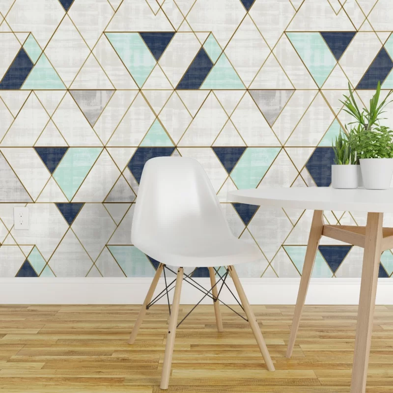 Hashtag Home Debbra Removable Peel And Stick Wallpaper Panel Wayfair Geometric Removable Wallpaper Geometric Wallpaper Removable Wallpaper