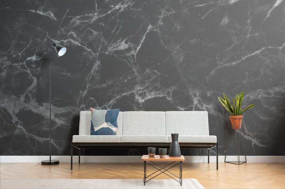 Black Marble Wallpaper Mural Murals Wallpaper In 2021 Marble Effect Wallpaper Marble Wallpaper Marble Iphone Wallpaper