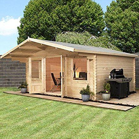 avon 5m x 5m lincoln log cabin log cabinsaffiliate link below - Garden Sheds 5m X 3m