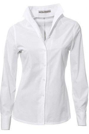 witte blouse hoge kraag dames