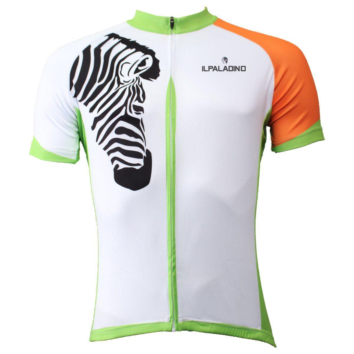 Ilpaladino Zebra Orange-arm Men s Breathable Short-Sleeve Cycling Jersey  Bicycling Shirts Summer Sportswear Apparel Outdoor Sports Leisure Biking  Shirt ... 1b0c5aa60