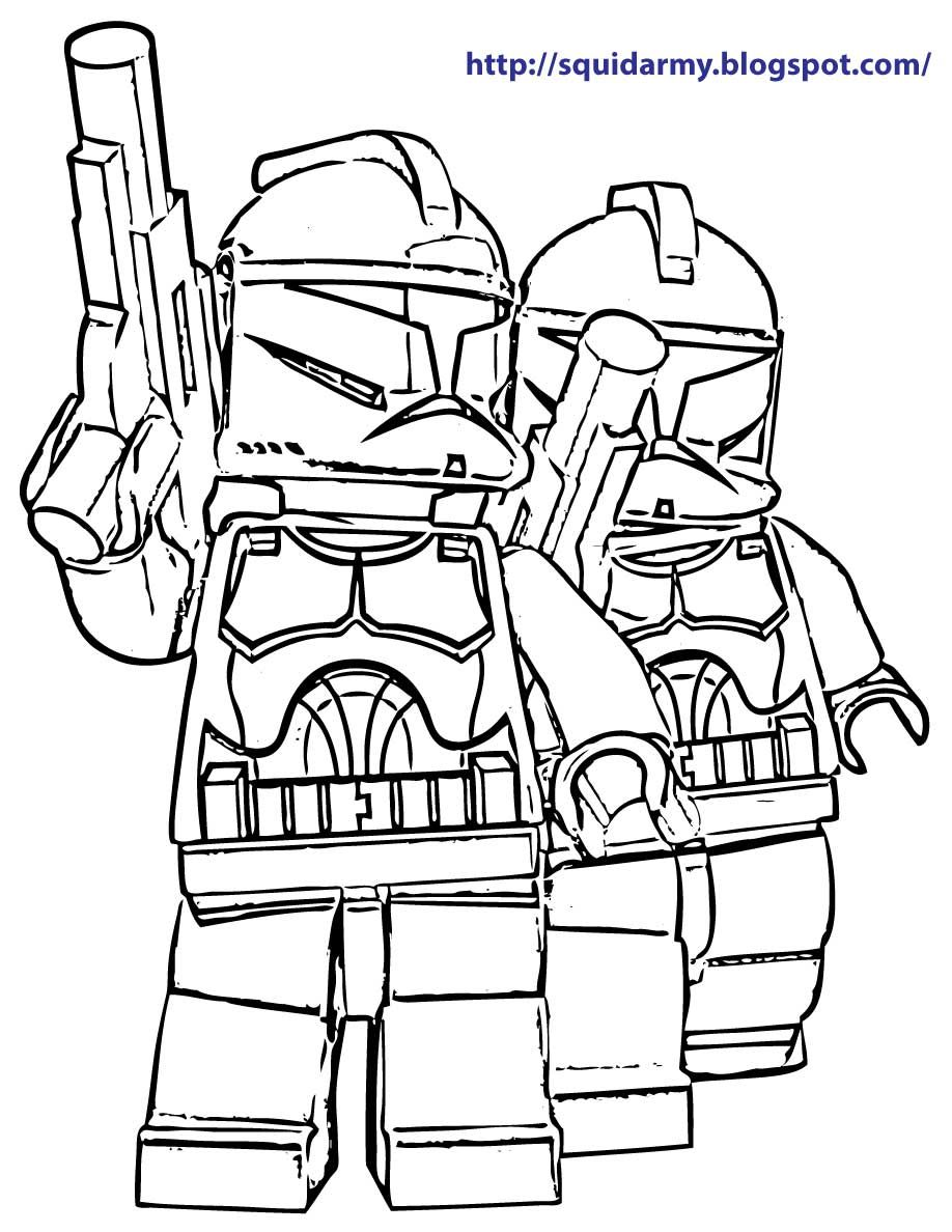 Lego Star Wars Coloring Pages Stroom Tropers Star Wars