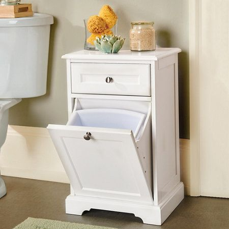 weatherby trash can cabinet with drawer anne 39 s home. Black Bedroom Furniture Sets. Home Design Ideas