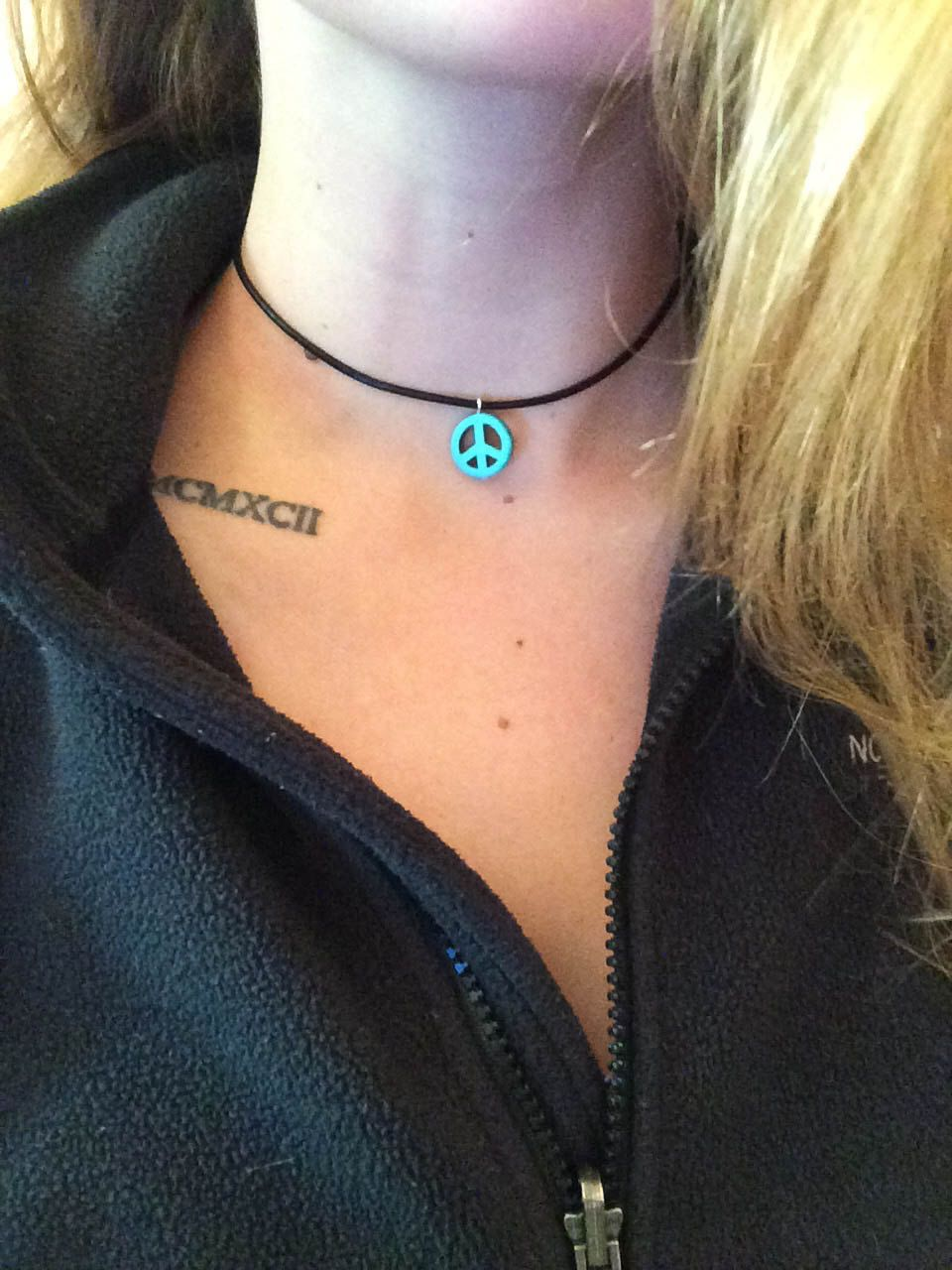 A personal favorite from my Etsy shop https://www.etsy.com/listing/261908154/peace-pendant-choker-necklace