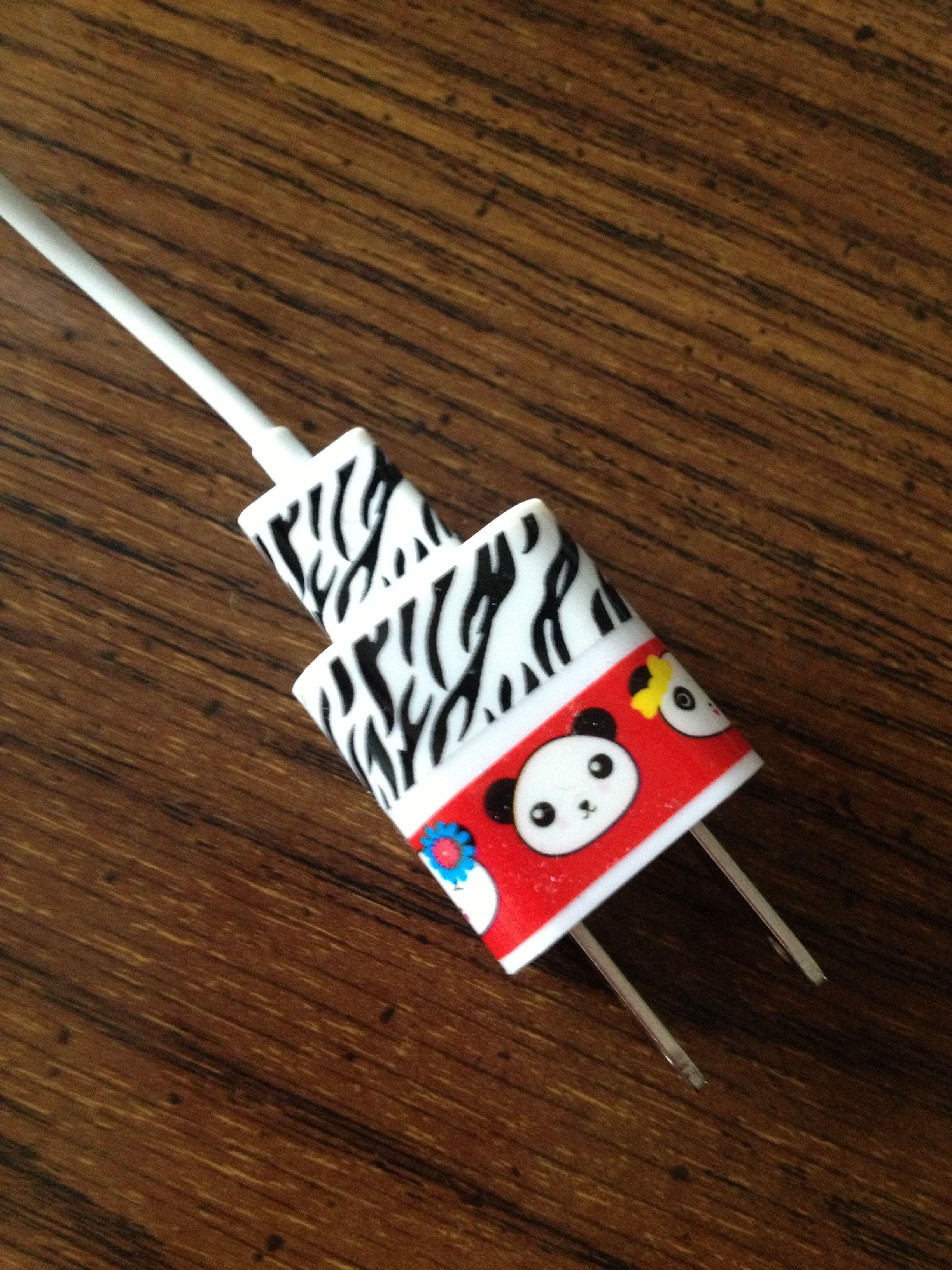 Washi Tape Iphone Charger Pandas