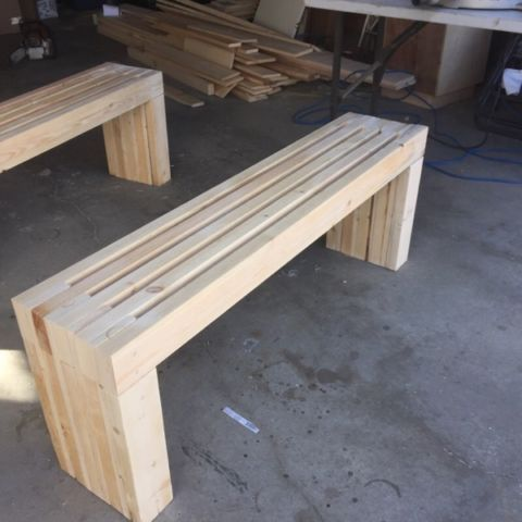 Bench 2x4 Custom Wood Other Edmonton Kijiji Kolltuk