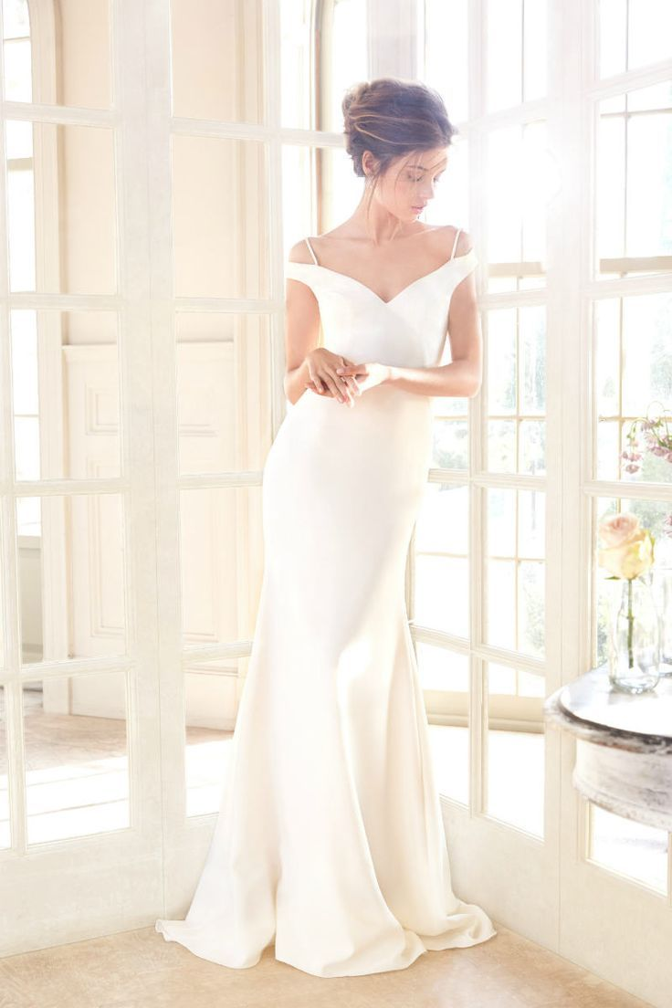 Tara keely spring collection off the shoulder wedding dress