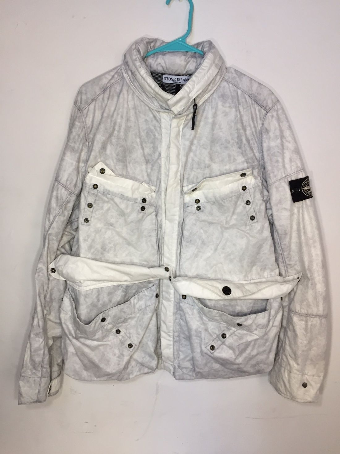 53756132 Stone Island Archive Tyvek Jacket Size m - Light Jackets for Sale - Grailed