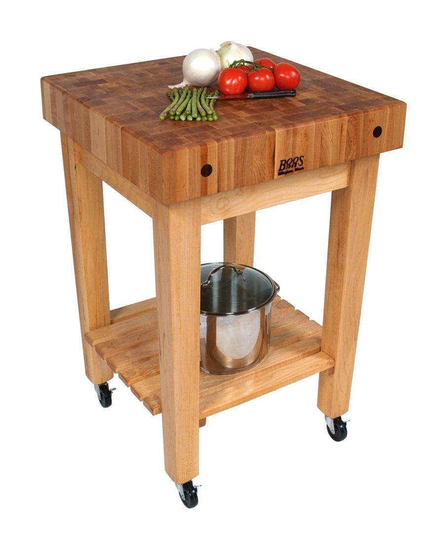 John Boos Gourmet Block – Maple Butcher Block Stand or Cart ...