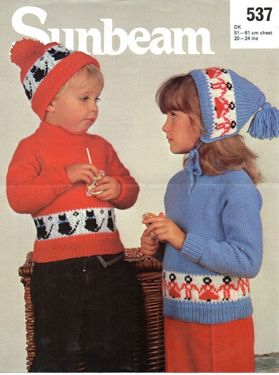 cc8f79ecb9b vintage baby childs sweater and hat set knitting pattern pdf cat ...