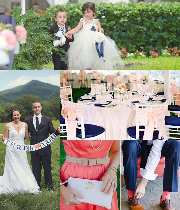 4b999e9876ca4 Wedding Philippines - Weddings by Color - Navy Blue Coral Wedding Ideas 03