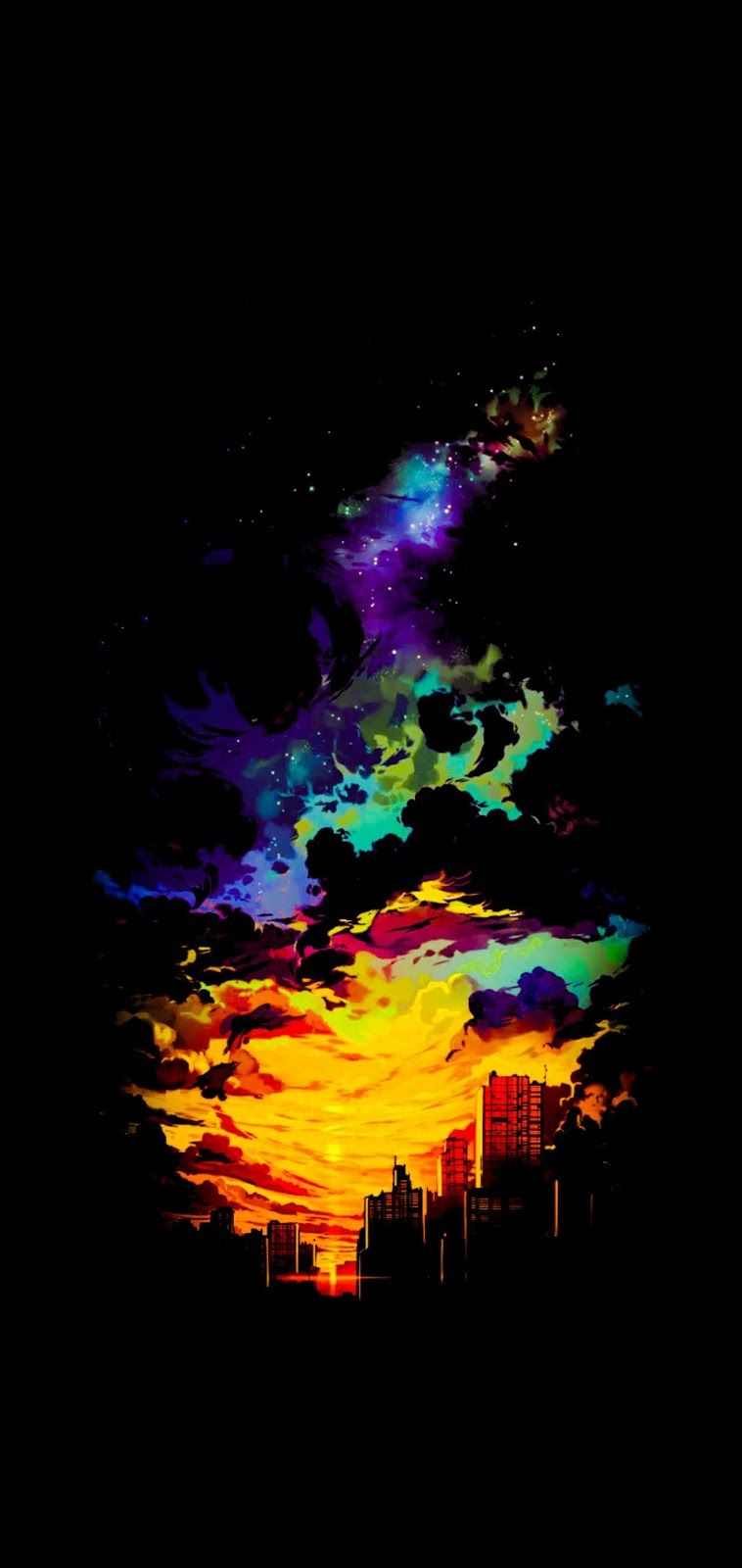 Amoled Anime Sunset Wallpaper Iphone Android Background Followme Mkbhd Wallpapers Samsung Galaxy Wallpaper Landscape Wallpaper