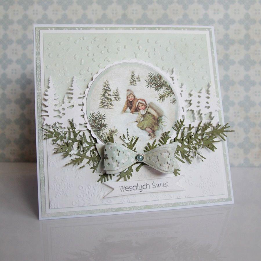 Новогодняя открытка круглая своими руками