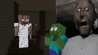 Monster School REAL GRANNY HORROR GAME Minecraft Animation - Minecraft horror spiele