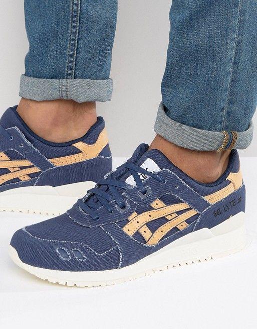 huge selection of fbf5a 5f6e4 Asics Gel-Lyte III Veg Tan Sneakers In Blue H7E2N 4971 ...