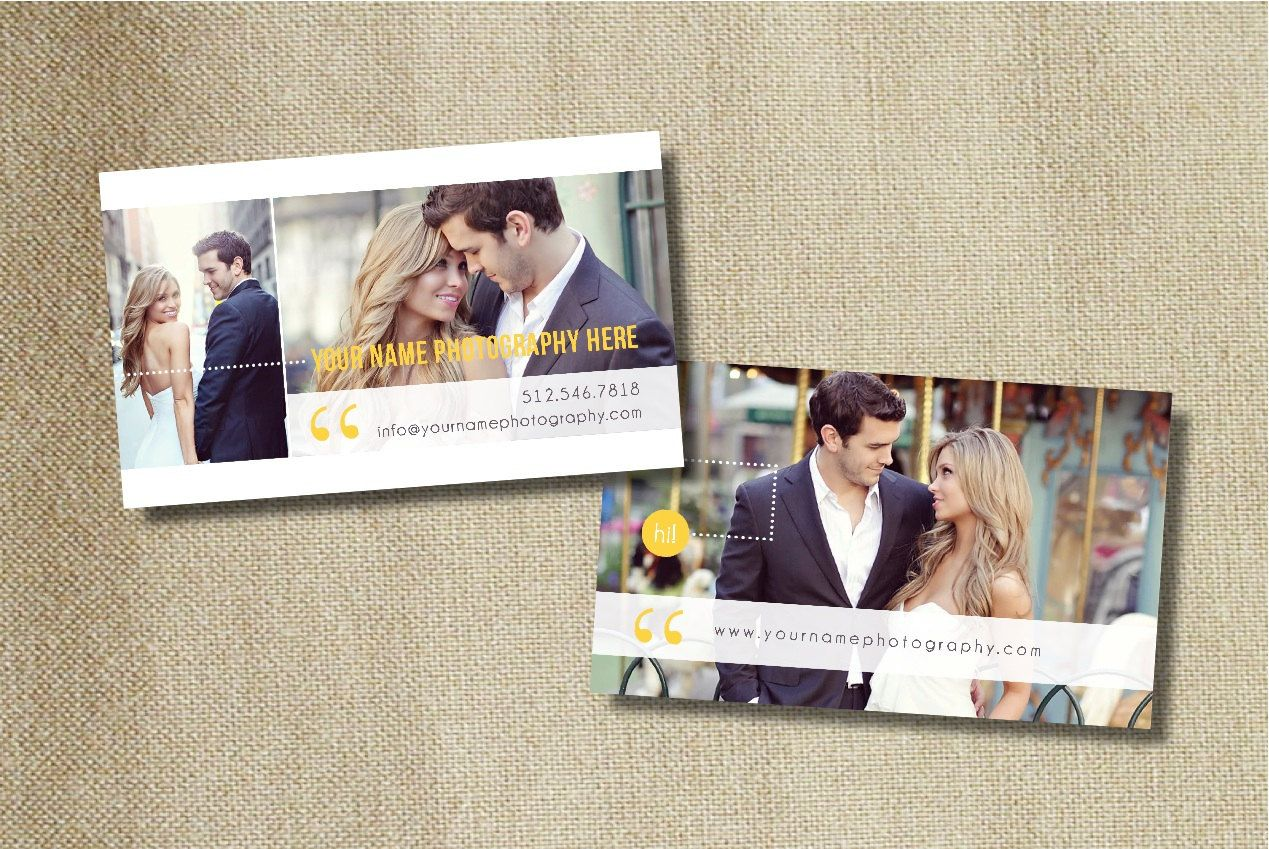 Business Card Template - Photographer Business Cards - Photo ...