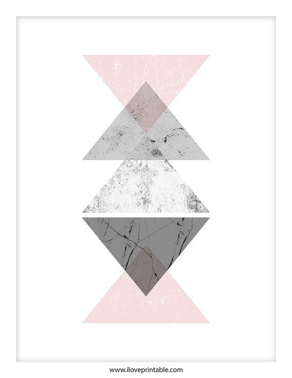 Geometric Heart Inspirational Quote Poster Art Print A6-A0 Decor Wall Home Love