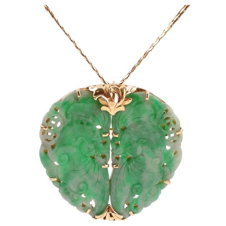 yellow charm color pin multi gold chain vase pendant necklace vintage chains jade