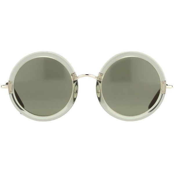 THE ROW 8 Luxury Round Acetate/Stainless Steel Sunglasses ($345) ❤ liked on Polyvore