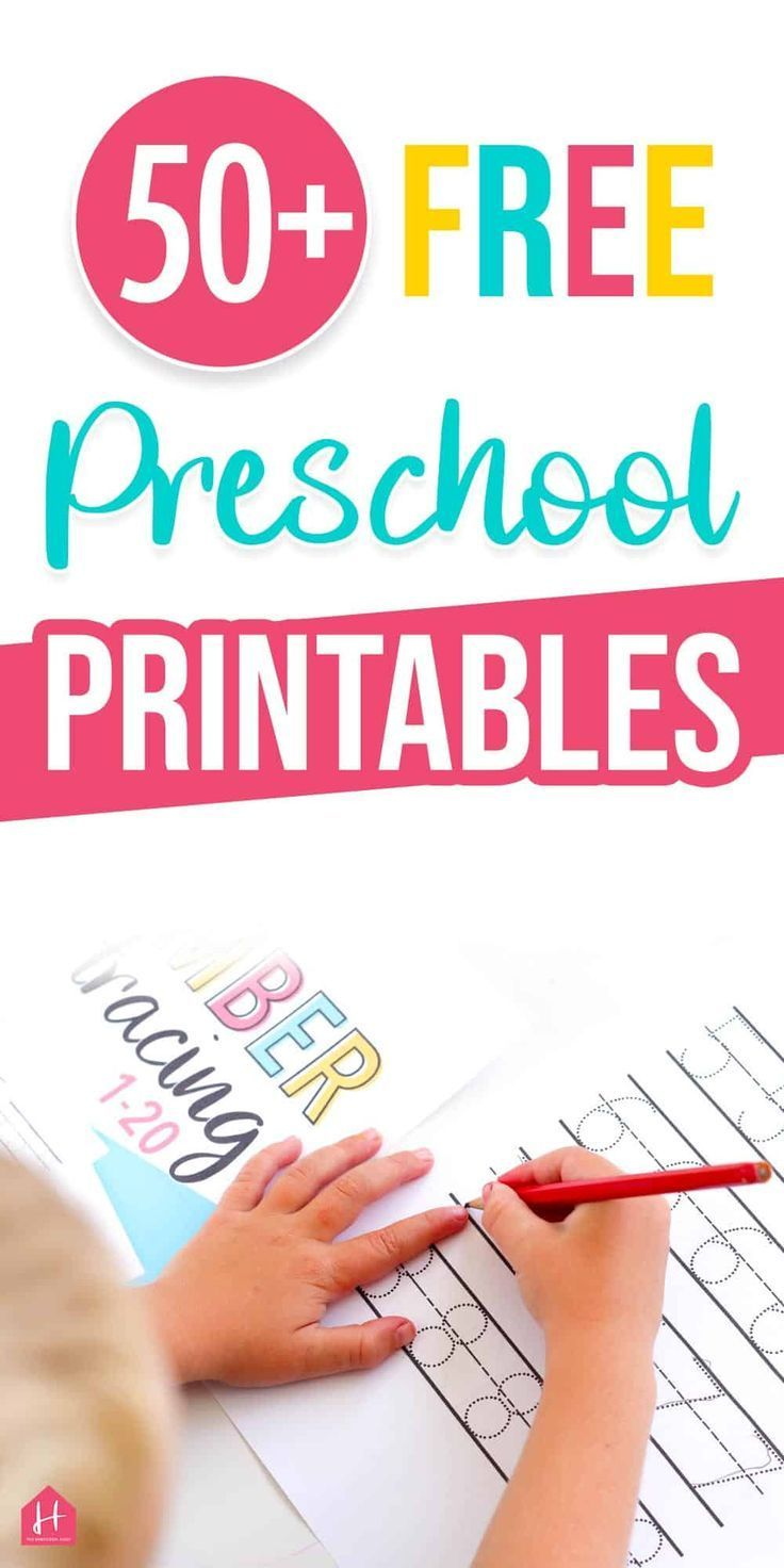 50 + Free Preschool Printables You Need to Check Out