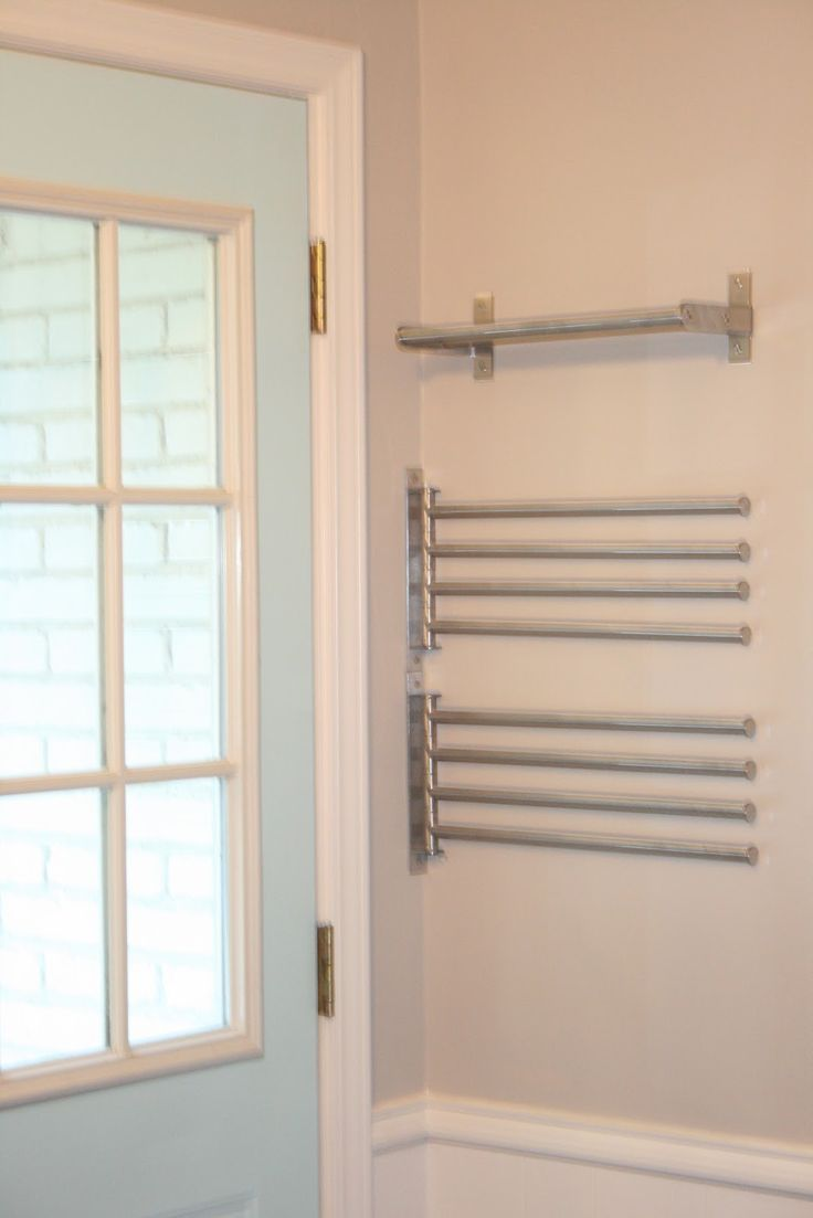 IKEA Swinging Racks - installed in the corner of a small laundry room, make  the perfect clothes drying racks - via Hope, Longing, Life: New Clothes  Drying ...