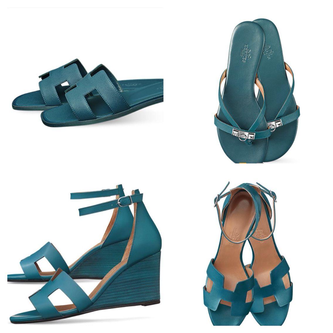 Hermes sandals dance shoes - Hermes In Beautiful Blue Oran Sandal Corfou Sandal Legend Wedge
