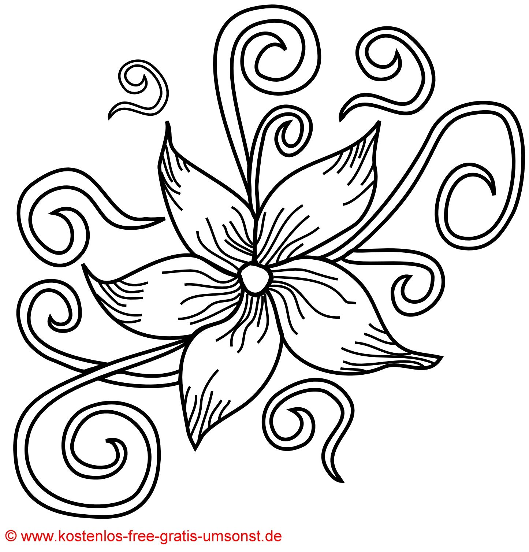Ausmalbilder Blumen Blüten : Flower Tattoo Kostenlose Blumen Bl Ten Tattoo Vorlage Pinteres
