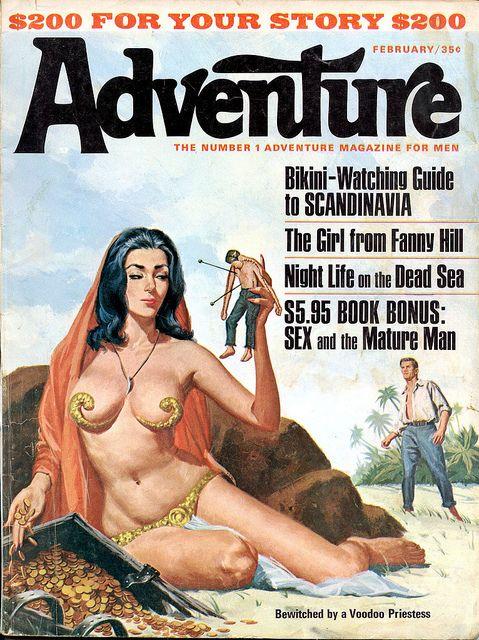 ADVENTURE, Feb. 1966, art by Vic Prezio - www.MensPulpMags.com by SubtropicBob, via Flickr