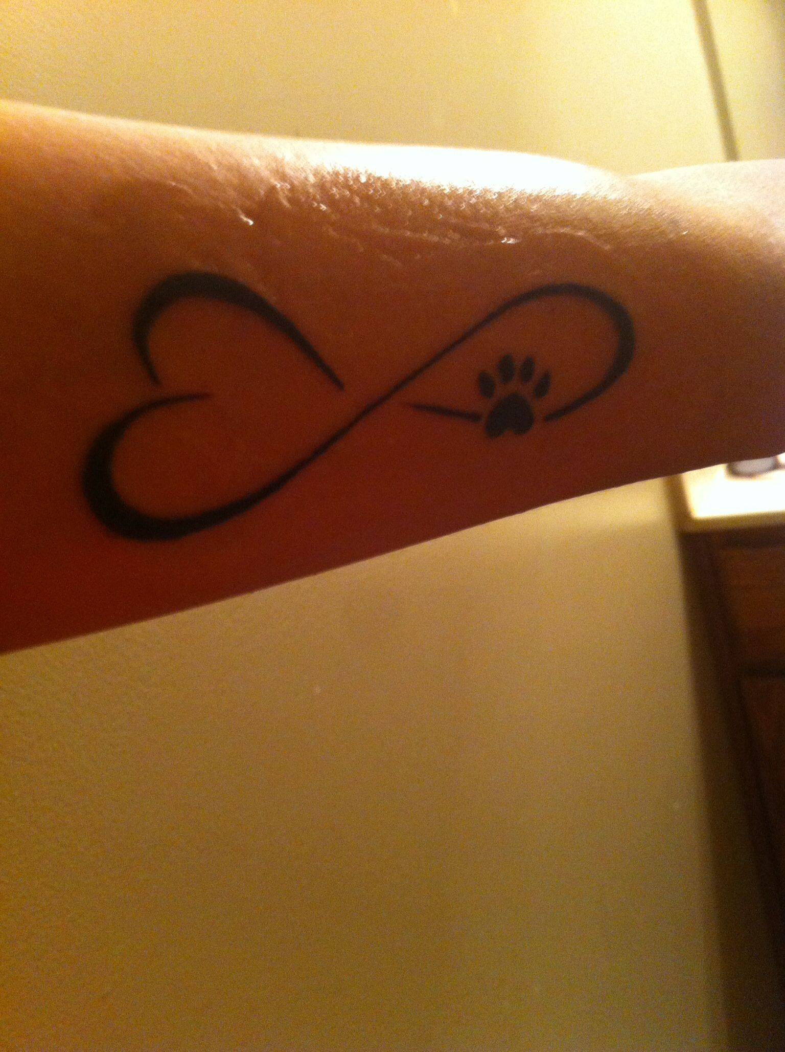 My first tattoo infinity sign with heart and dog paw the my first tattoo infinity sign with heart and dog paw the original biocorpaavc