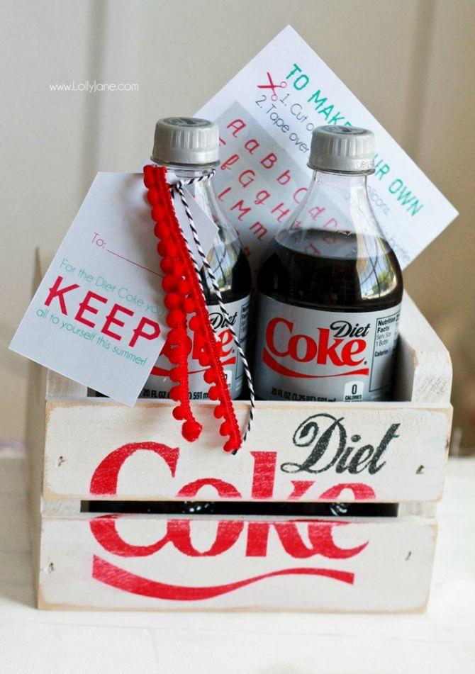 diy diet coke bottle hack free printable stickers lolly jane goods