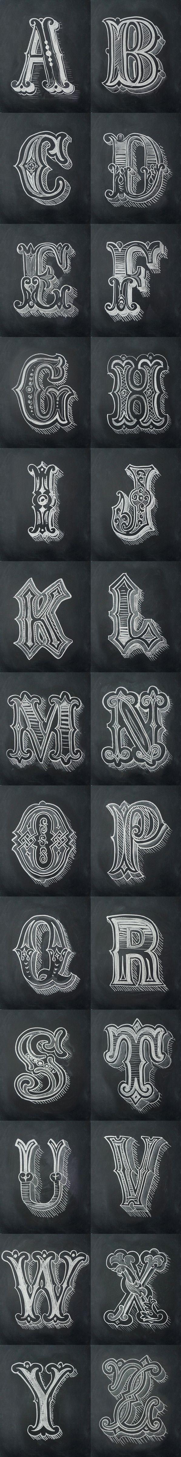 chalk alphabet by antonio rodrigues jr art chalkboard fonts