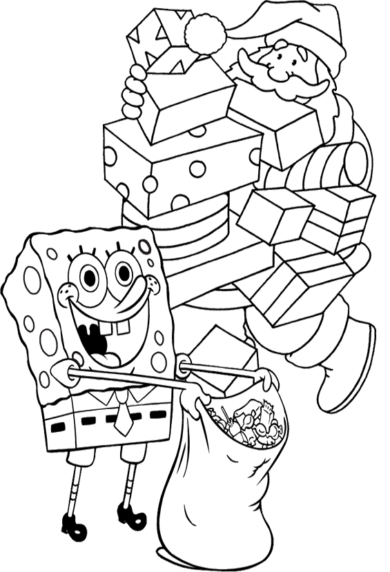 Present Christmas Spongebob Coloring Pages Christmas Coloring Pages Christmas Colors Spongebob Christmas