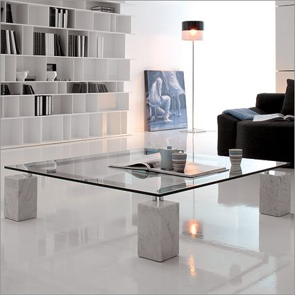 Rectangular Coffee Table With Marble Feet Coffee Table