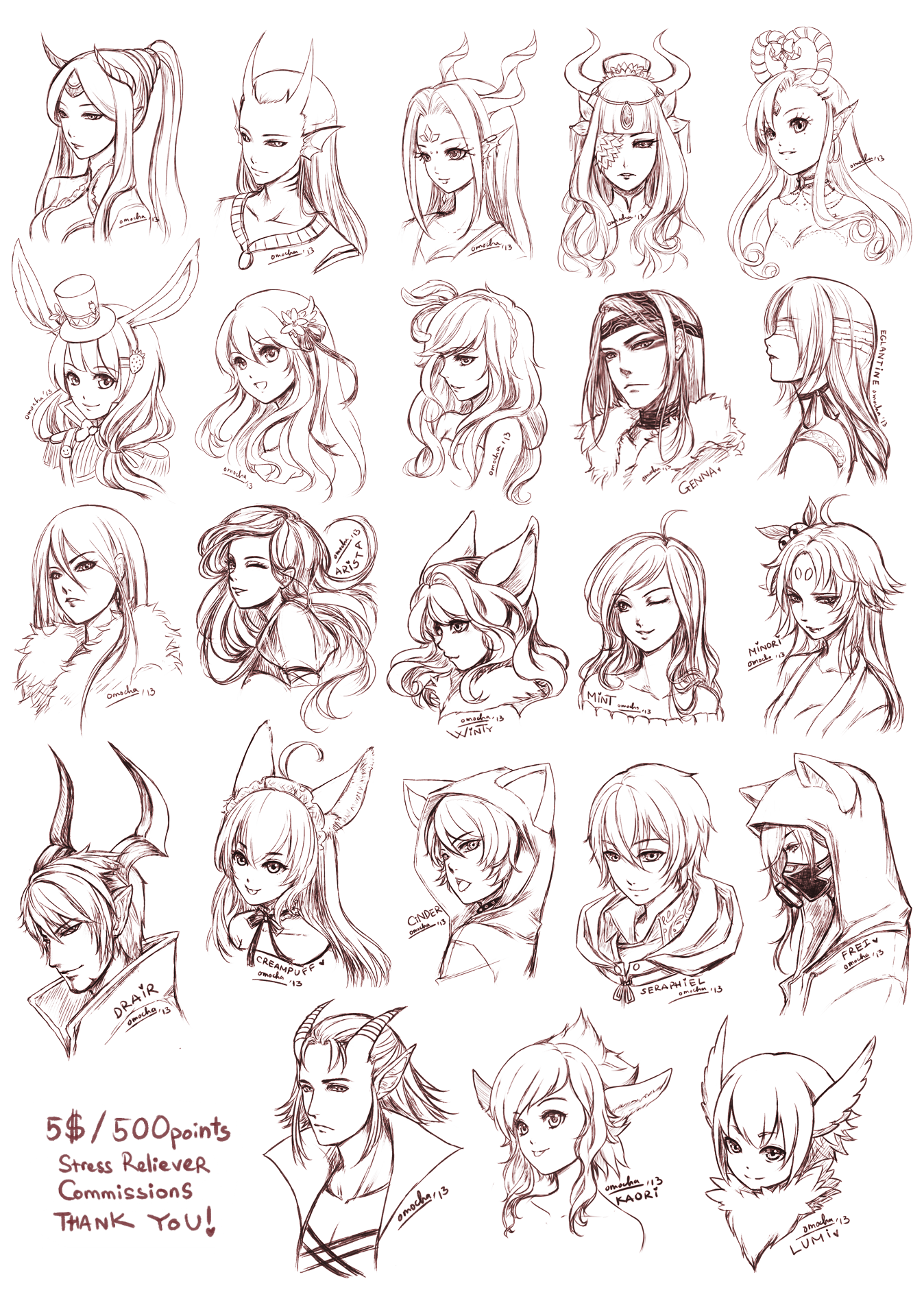 Anime Drawing Of Elves And Hiar Styles By =omochasan On Deviantart