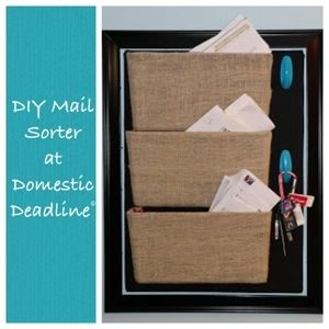 Wall Hanging Mail Organizer domestic deadline: mission organization monday: mail sorter (with