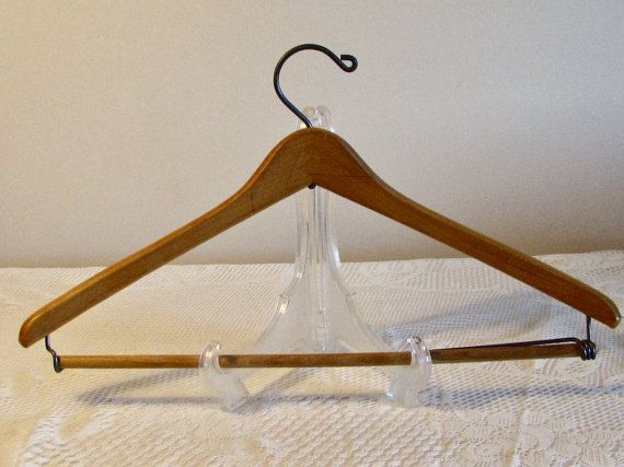Charmant Wooden Clothes Hanger, Coat And Pants Hanger, Wood And Wire Clothes Hanger,  Heavy